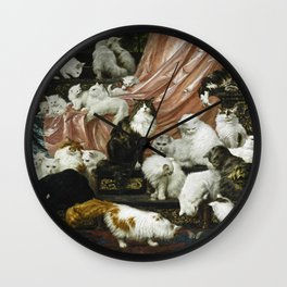 My Wife's Lovers, Carl Kahler, cats and kittens Wall Clock