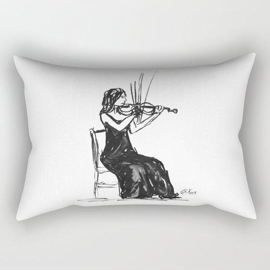 Playing the violin Rectangular Pillow