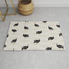 Guinea fowl bird pattern Rug