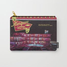 Marquee Motel in North Wildwood, New Jersey. 1960's Retro Motel Carry-All Pouch