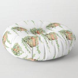String of Pearls Plant, Still Life Floor Pillow