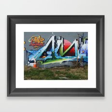 The Lonely Traffic Cone (Read the Label) Framed Art Print