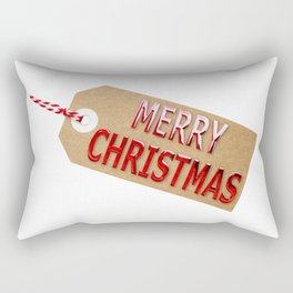 Merry Christmas Gift Tag Rectangular Pillow