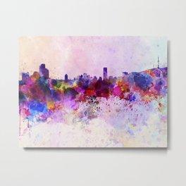Seoul skyline in watercolor background Metal Print