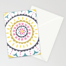 Suzani inspired floral blue 1 Stationery Cards