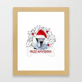 Feliz Navidog Framed Art Print