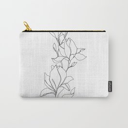 Botanical illustration line drawing - Magnolia Carry-All Pouch