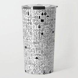 ICONS Overdrive, Black and White Travel Mug