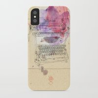 mercedes iPhone & iPod Cases featuring typewriter by Sabine Israel