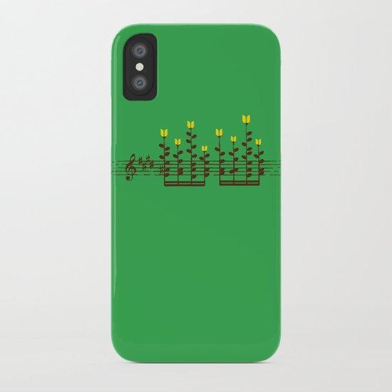 Music notes garden iPhone Case