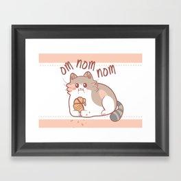 Om Nom Nom Framed Art Print