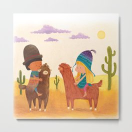 Friends in Mexico Metal Print
