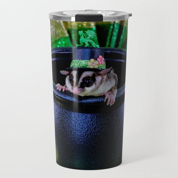 Fuzzy Leprechaun for St Patrick's Day Travel Mug