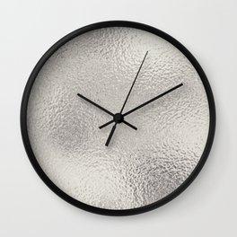Simply Metallic in Silver Wall Clock