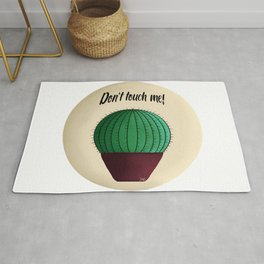 Cactus quote don't touch me! Rug