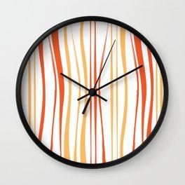 Orange Tree Lines Wall Clock