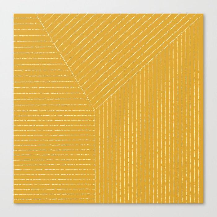 Lines (Mustard Yellow) Leinwanddruck