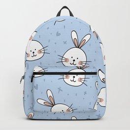 Rabbits Pattern Backpack