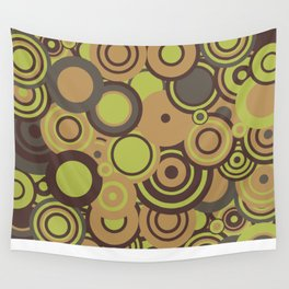 circles-orange-choc-lime Wall Tapestry