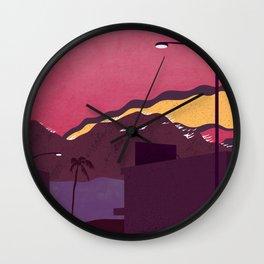 LA Wildfires Wall Clock