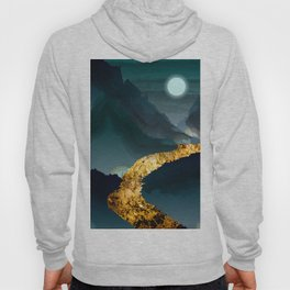 Abuab Mountain River Minimalist expressionism Hoody