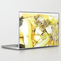 yaoi Laptop & iPad Skins featuring Close to you by Fireangels