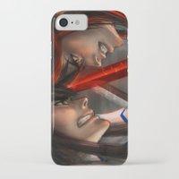 kill la kill iPhone & iPod Cases featuring Kill La Kill by trixdraws