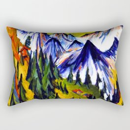 Ernst Ludwig Kirchner Mountain Top Rectangular Pillow