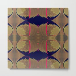 Pinkbrown(blue) Pattern 10 Metal Print