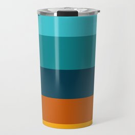 Sunflower Colorful Stripes Travel Mug