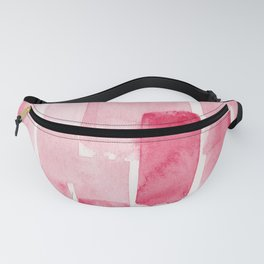 Pink  Watercolour Patterns | 190129 Abstract Art Watercolour Fanny Pack