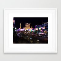 las vegas Framed Art Prints featuring Las vegas by anna S