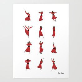 Kate Bush - Wuthering Heights - Illustrated Dance Routine Art Print
