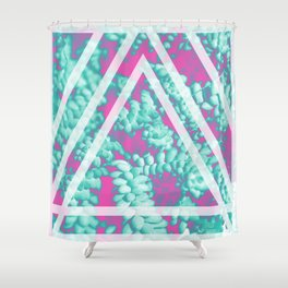 Pink Succulent Shower Curtain
