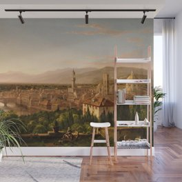 View of the Duomo and Florence, Italy by Thomas Cole Wall Mural