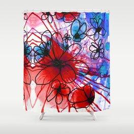 Bold Modern Flower Art - Wild Flowers 3 - Sharon Cummings Shower Curtain