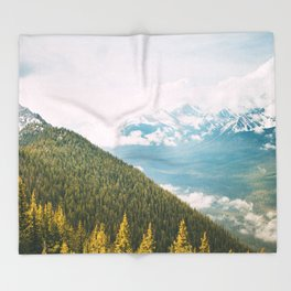 Summit Views in Banff Throw Blanket