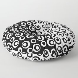 Mod Love Black/White Dots Circles Floor Pillow