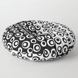 Mod Love Black/White Dots Circles Floor Pillow