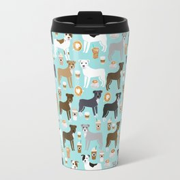Pitbull coffee dog breed pet art pibble lovers rescue dogs pitbulls Travel Mug
