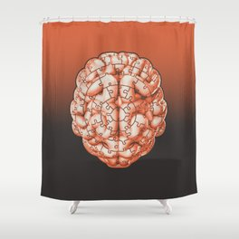 Puzzle brain GINGER / Your brain on puzzles Shower Curtain