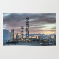 industrial Area & Throw Rugs featuring Industrial 5  by Crystal Dodds-Donnelly