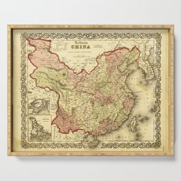 Colton's Map of China (1861) Serving Tray