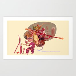 Imagine the journey to the west Art Print