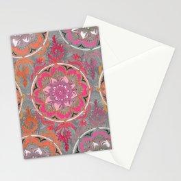 Hot Pink, Magenta and Orange Super Boho Medallions Stationery Cards