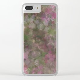 Rosen garden batic look Clear iPhone Case