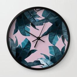 Tropical Palm Print #2 Wall Clock