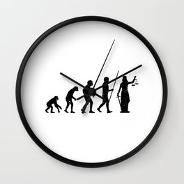 Lady Justice Evolution Lawyer Judge Law Wall Clock
