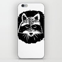 racoon iPhone & iPod Skins featuring Racoon by leart