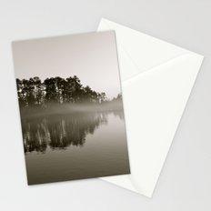 Misty Lake B&W Stationery Cards